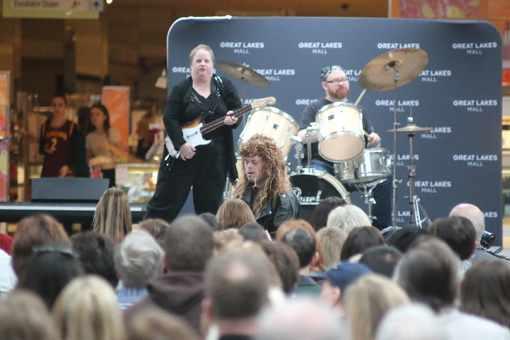 . A band participates at Deepwood Idol April 1 at Great Lakes Mall. (Jonathan Tressler/The News-Herald)
