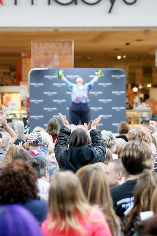 . The crowd goes wild for a contestant at the Deepwood Idol competition at Great Lakes Mall April 1. (Jonathan Tressler/The News-Herald)