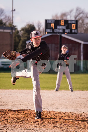 Joseph Wilson comes in to relieve Jordan Morris in the start of the top of the 6th inning on Thursday April 6, 2017 against Somonauk.