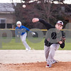 Sam Buckner for Shaw Media.<br /> Jordan Morris pitches the ball with runners on base on Thursday April 6, 2017.