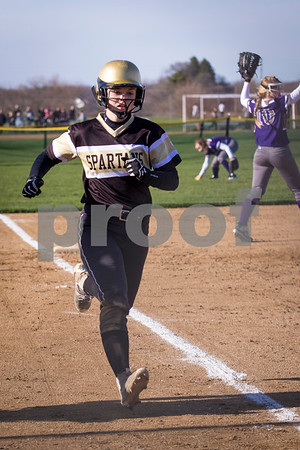 Sam Buckner for Shaw Media.<br /> Gracyn Gabriel Scores a run on Friday April 7, 2017 against Sycamore.