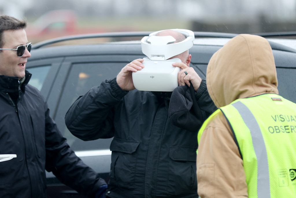 . Jonathan Tressler � The News-Herald <br> A scene from the Cuyahoga Community College public safety drone class April 11 at the Geauga County Fairgrounds.