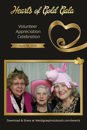 Hearts of Gold Gala Photo Strips
