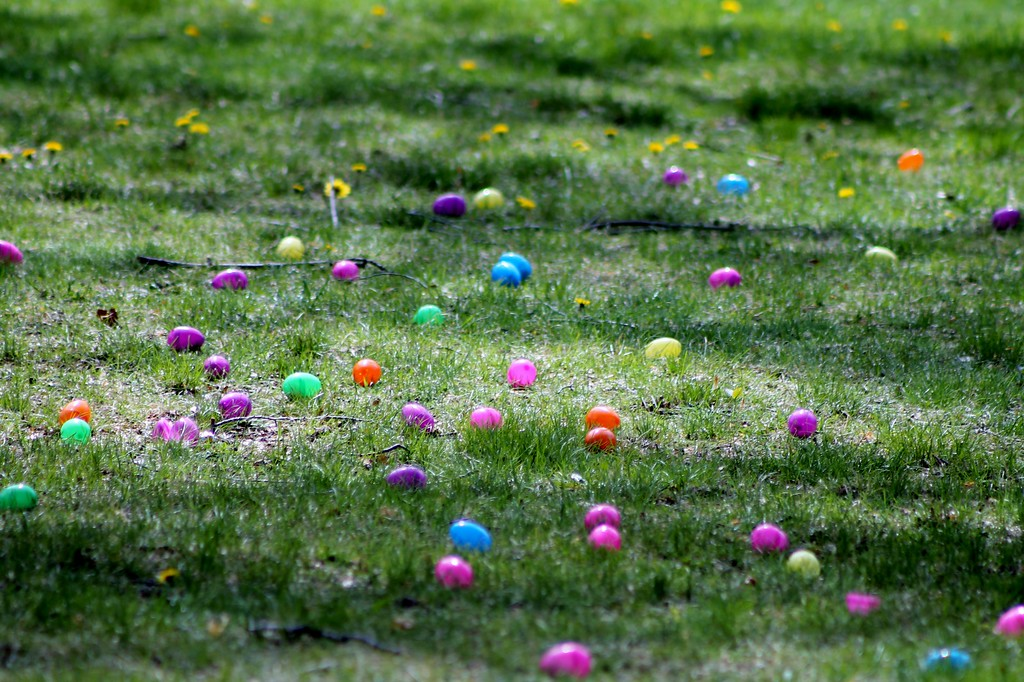 . Hundreds of eggs were put out for toddlers to gather during the egg hunt at the Easter Monday event. Kristi Garabrant - The News-Herald