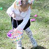 Maria Taraska, 4, Mentor participates in the toddler Easter egg hunt during the Easter Monday event.<br /> Kristi Garabrandt