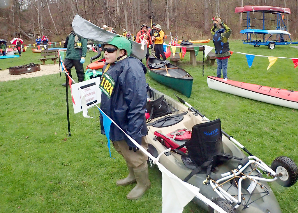 . Jonathan Tressler � The News-Herald <br> A scene from the Grand River Canoe &amp; Kayak Race on April 28.