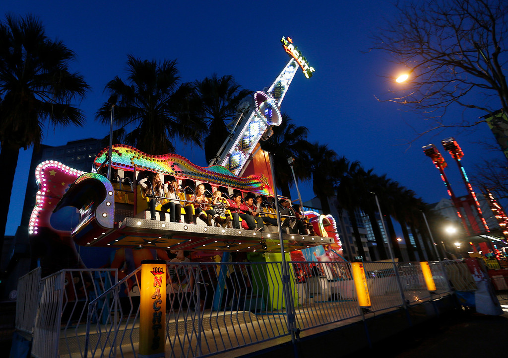 . The last night of carnival rides at Winter Wonderland as the holiday tradition of Christmas in the Park comes to a close in downtown San Jose, Calif., on Sunday, Jan. 5, 2014. (Josie Lepe/Bay Area News Group)