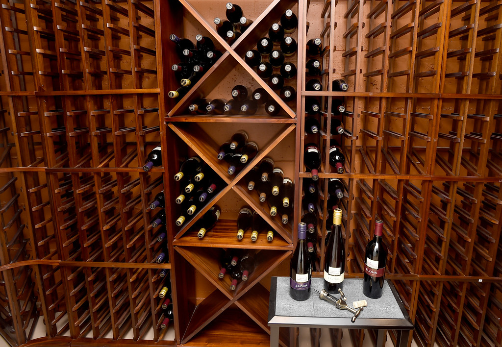 . A wine cellar is found on the fourth-floor of Sunset �s 2016 Idea House in Berkeley, Calif., on Monday, Aug 22, 2016.  (Susan Tripp Pollard/Bay Area News Group)