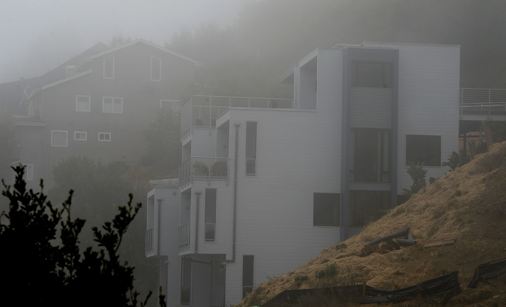 . This Sunset\'s 2016 Idea House can be found perched on a hillside in Berkeley, Calif., where fog has given it a blanket of mystery on Monday, Aug 22, 2016.  (Susan Tripp Pollard/Bay Area News Group)