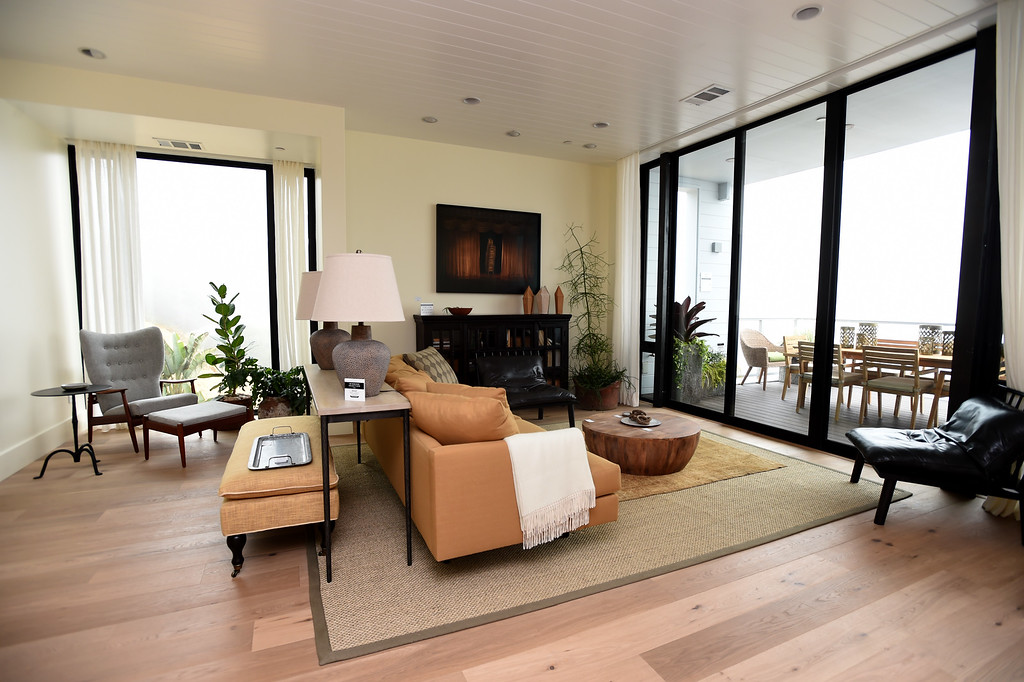 . The second floor living room of this Sunset\'s 2016 Idea House leads to a deck for outside dining in Berkeley, Calif., on Monday, Aug 22, 2016.  (Susan Tripp Pollard/Bay Area News Group)