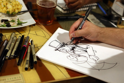 Drinking and drawing