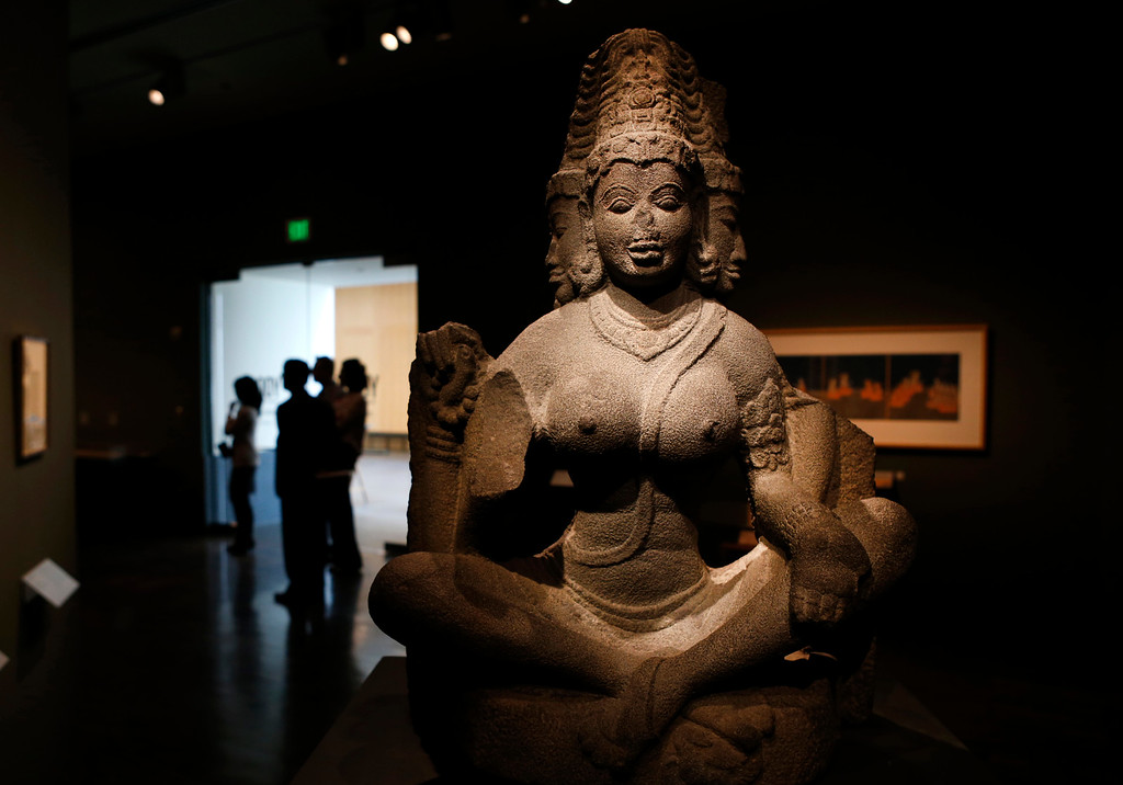 """. A sculpture titled \""""Brahmani\"""" is part of the new exhibit  \""""Yoga: The Art of Transformation\"""" at the Asian Art Museum Wednesday morning, Feb. 19, 2014, in San Francisco, Calif. (Karl Mondon/Bay Area News Group)"""