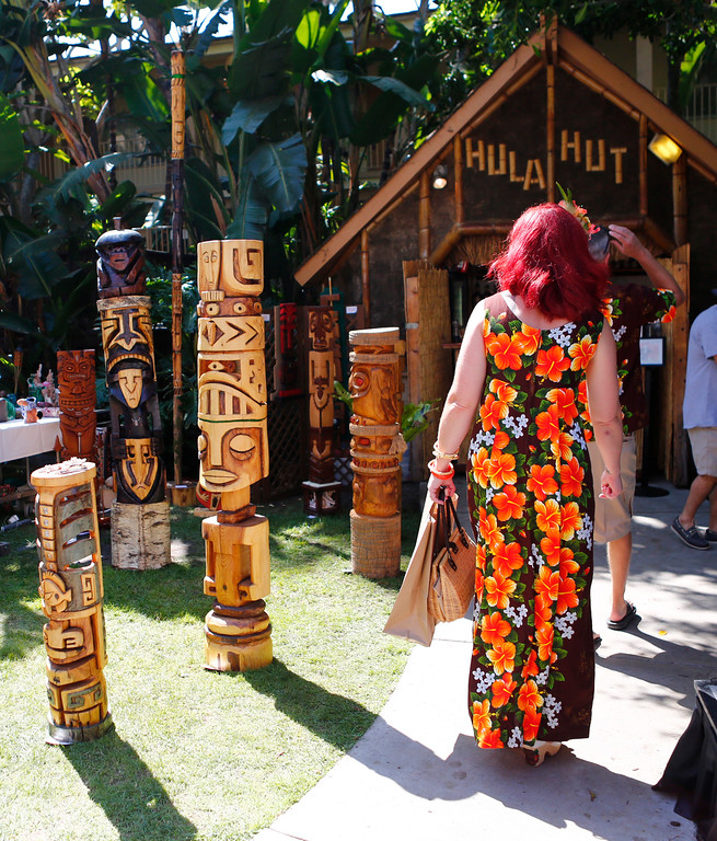 ". Jessica Allen, of san Jose walks in the market at the 16th Annual Tiki Oasis ""Party on Monster Island,\"" at the Crown Plaza, formerly the Hanalei Hotel in San Diego, Calif., on Friday, August 19, 2016. (Josie Lepe/Bay Area News Group)"