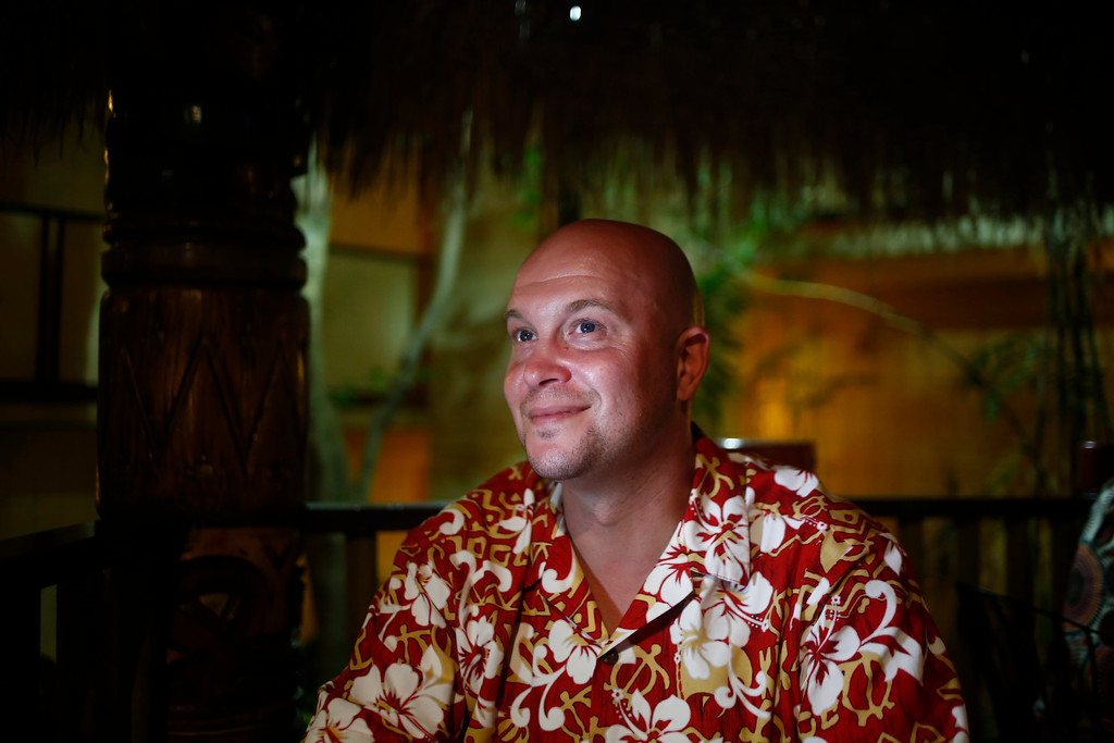 """. Co-founder and inventor of Lost Spirits Bryan A. Davis is photographed at the 16th Annual Tiki Oasis \""""Party on Monster Island,\"""" at the Crown Plaza, formerly the Hanalei Hotel in San Diego, Calif., on Friday, August 19, 2016. (Josie Lepe/Bay Area News Group)"""