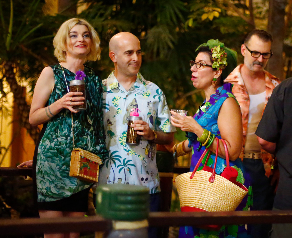 """. Elaine Sitterson, Alan Salmassian, of San Jose,  and Julie Espy, of Campbell,  are photographed at the16th Annual Tiki Oasis \""""Party on Monster Island,\"""" at the Crown Plaza, formerly the Hanalei Hotel in San Diego, Calif., on Friday, August 19, 2016. (Josie Lepe/Bay Area News Group)"""