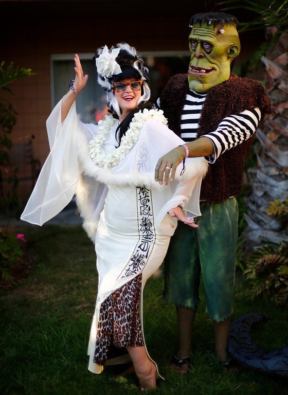 """. Baby Doe and Otto von Stroheim, of Alameda, are photographed at the 16th Annual Tiki Oasis \""""Party on Monster Island,\"""" at the Crown Plaza, formerly the Hanalei Hotel in San Diego, Calif., on Friday, August 19, 2016. (Josie Lepe/Bay Area News Group)"""