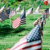 5 21 20 Swampscott Cemetery Memorial Day flags 5