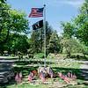 5 21 20 Swampscott Cemetery Memorial Day flags 3