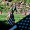 5 21 20 Swampscott Cemetery Memorial Day flags 1