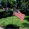 5 21 20 Swampscott Cemetery Memorial Day flags 2