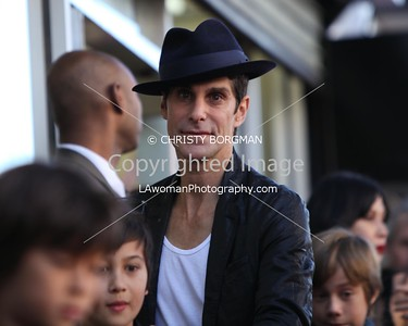 Perry Farrell arriving at Jane's Addiction's Hollywood Walk of Fame star ceremony