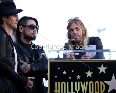 Taylor Hawkins speaking at Jane's Addiction's Hollywood Walk of Fame star ceremony