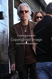 John Densmore arriving at Jane's Addiction's Hollywood Walk of Fame star ceremony