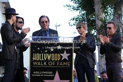 John Doe speaking at Jane's Addiction's Hollywood Walk of Fame star ceremony