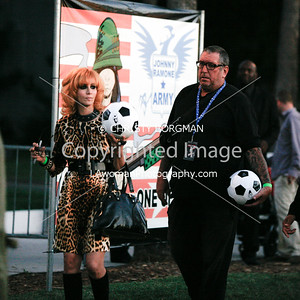 Linda Ramone and Steve Jones