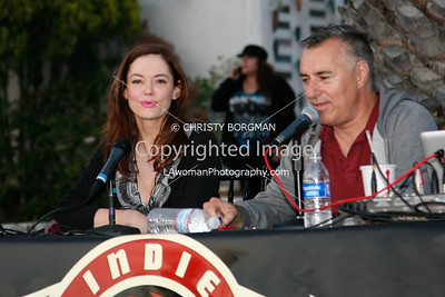 Rose McGowan and Joe Escalante