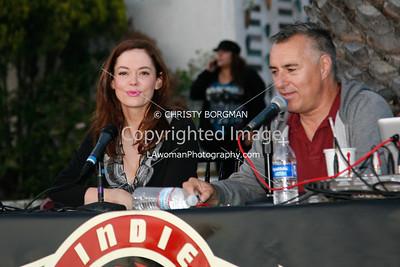 Rose McGowan and Joe Escalante