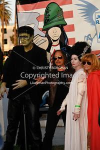 Kirk Hammett and Linda Ramone