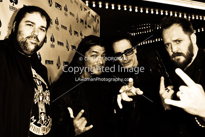 Wes Orshoski, Robert Trujillo, Steve Vai and Greg Olliver
