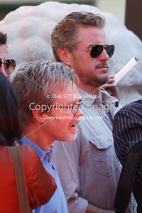 Eric Dane and Freddie Roach attend Mickey Rourke's Hand and Footprint Ceremony at Grauman's Chinese Theatre