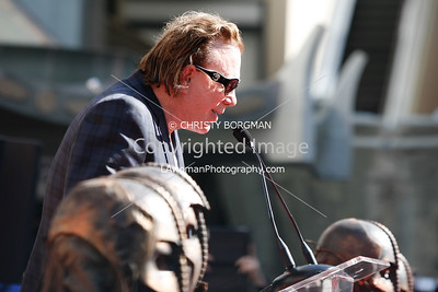 Mickey Rourke speaks at Grauman's Chinese Theatre for his hand and footprint ceremony