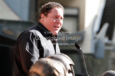 Jon Favreau speaks at Mickey Rourke's Hand and Footprint Ceremony at Grauman's Chinese Theatre