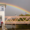 JOED VIERA/STAFF PHOTOGRAPHER-Lockport, NY-A Rainbow hovers over the Exchange Street Bridge and Erie Canal.