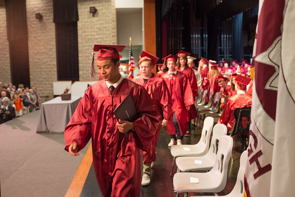 JOED VIERA/STAFF PHOTOGRAPHER-Pendleton, NY-Stairpoint Seniors leave the  Starpoint stage after their graduation ceremony.