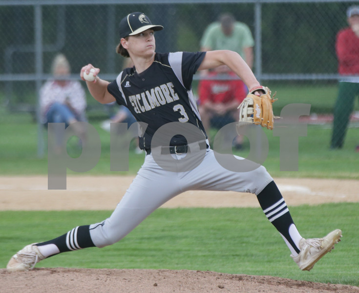 Sycamore's Ethan Storm delivers a pitch to L-P.