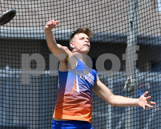 Michael Tryznka of Genoa-Kingston throws in the disc portion of the Genoa-Kingston invite on May 5th.