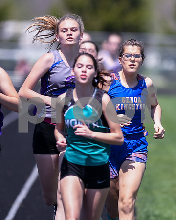 Brook Pugh of Genoa-Kingston runs the 800 meter run on May 5th during the Genoa-Kingston invite.