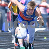 Michael Tryznka takes off from the starting blocks during the 4x800 meter relay on May 5th at the Genoa-Kingston invite.