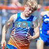 Jake Hansen of Genoa-Kingston starts the first leg of the 3200 meter relay on May 5th at the Genoa-Kingston invite