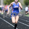 Genoa-Kingston Hanna Chriss competes in the 100 meters run on May 5th during the Genoa-Kingston invite.
