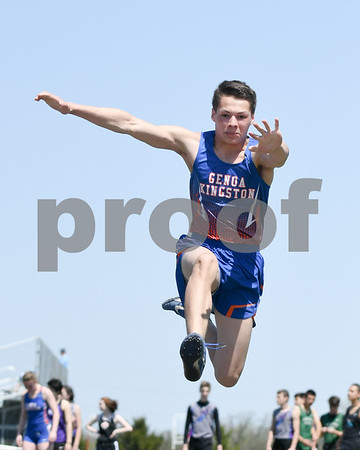 Jesse Torres of Genoa-Kingston competes in the triple jump portion of the Genoa-Kingston invite held on May 5th.