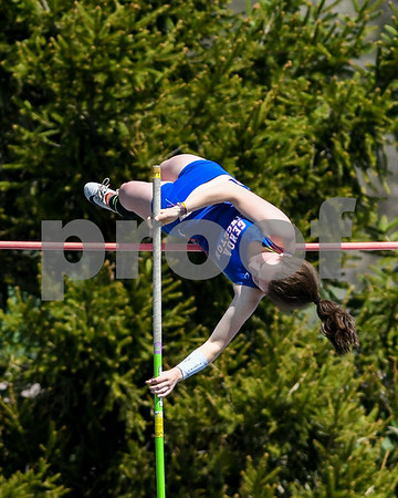 Pole vaulter Chloe Gallagher of Genoa-Kingston clears 10 foot 6 inches on May 5th at the Genoa-Kingston invite.