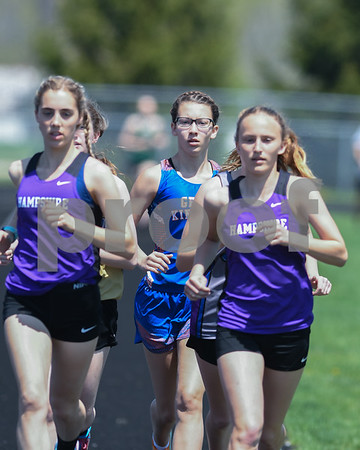 Brook Pugh of Genoa-Kingston runs the 3200 meter run May 5th at the Genoa-Kingston invite.