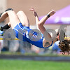 "Genoa-Kingston Gabby Janes clears 4'6"" bar in the high jump on May 5yth at the Genoa-Kingston invite."