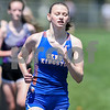 Madelyn Young of Genoa-Kingston runs the 800 meter run on May 5th at the Genoa-Kingston invite.