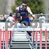Genoa-Kingston Trace Felliciano competes in the 110 meter hurdles on May 5th at the Genoa-Kingston invite